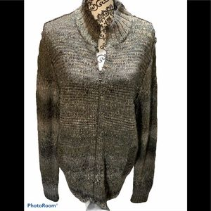 Marc Anthony Zip Front Sweater Size Large